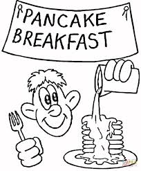 pancake breakfast coloring page free printable coloring pages