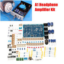 Diy Kit by A1 Headphone Amplifier Diy Kit Set Chassis Amo Module Based On