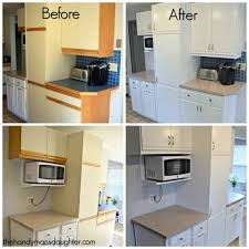 how to update kitchen cabinets tips for updating melamine cabinets with oak trim the handyman s