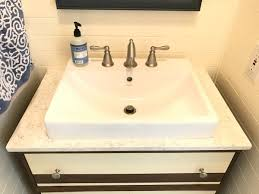 Bathroom Sink Makeover - 5 steps to our powder room makeover abbotts at home