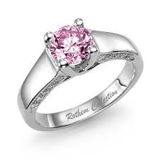 Pink Wedding Rings by Pink Diamond Wedding Rings The Wedding Specialiststhe Wedding