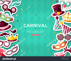 halloween masquerade background carnival banner flat sticker icons set stock vector 533308012