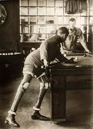 a soldier who lost both his legs in world war i playing a game of