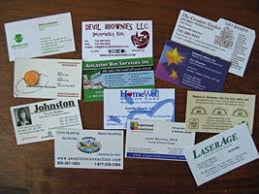 what can you do with all these business cards your organizing