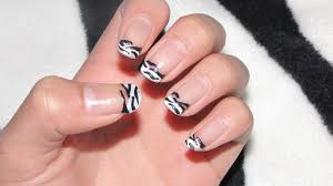 zebra print french tip beautiful imperfection