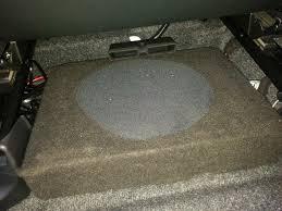 caisson sous siege acoustique installation du caisson de basse ultraplat auto
