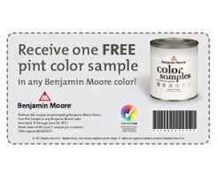 benjamin moore coupon valid for a free pint color sample free