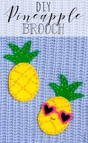 diy pineapple brooch sewing craft idea summer sewing craft diy