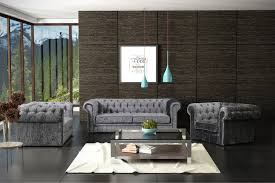 Velvet Chesterfield Sofa by New Silver Grey Luxury Crushed Velvet Chesterfield 3 2 1 Seater