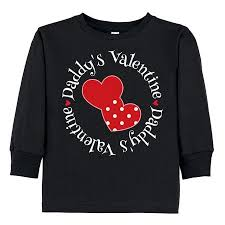 valentines day shirt inktastic daddys girl heart toddler sleeve t shirt