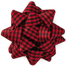 buffalo plaid grosgrain ribbon gift bow 4 5 8 bows ribbons
