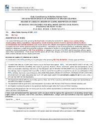 sos whistler waiver form 09 negligence common law