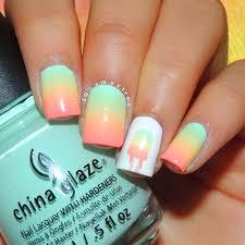 nail art tutorial popsicle nails i like this color combo re