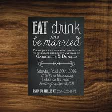 wedding reception invitations printable elopement reception invitation eat drink be married we