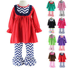 ruffle girl wennikids chevron bib dress and ruffle legging