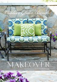outdoor glider bench makeover confessions of a serial do it