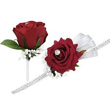 Where Can I Buy A Corsage And Boutonniere For Prom Prom Corsage Amazon Co Uk