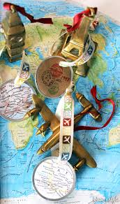 seaonal style travel map ornaments more than 35 other