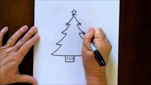 how to draw an easy christmas tree part 50 how to draw a