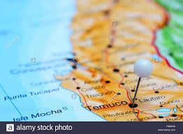 Map Chile Temuco Pinned On A Map Of Chile Stock Photo Royalty Free Image