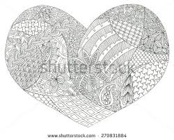 coloring page heart st valentines day stock illustration 279831884