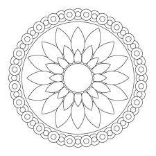 Flower Mandala Coloring Simple Flower Mandala Coloring Pages Mandala Flowers Coloring Pages