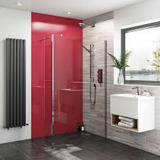 acrylic wall panel fire red