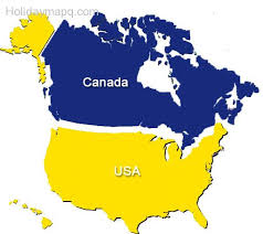 map for usa and canada usa and canada combo powerpoint map editable states provinces us