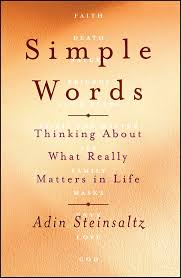 adin steinsaltz books simple words thinking about what really matters in