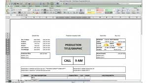 I Need A Spreadsheet Template Call Sheet Template Cast And Crew Call Youtube