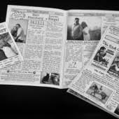 Newspaper Wedding Program Kotwo At Emmaline Bride
