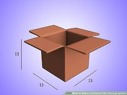 how to make a cardboard box storage system 4 steps