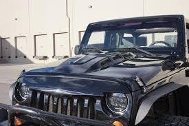 jeep hood vents custom avg avenger style hood w vents for jeep wrangler jk 2007