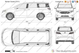 minivan nissan quest 2016 the blueprints com vector drawing nissan quest
