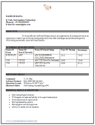 resume format for freshers engineers eceti professional curriculum vitae resume template for all job