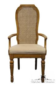 bernhardt french regency style cane back dining arm chair 251 521