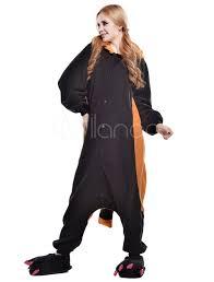 halloween fleece kigurumi pajama raccoon onesie for fleece flannel black