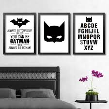 Batman Room Decor Batman Wall Modern Poster Canvas Printings Wall