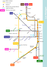 Blue Line Chicago Map by Yellow Line Chicago Map