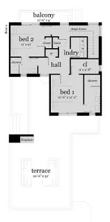 2 bedrm 1476 sq ft modern house plan 116 1122