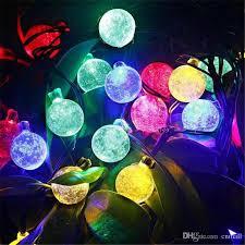 Ball Solar Lights - 2017 20 led christmas lights christmas strings led solar strings