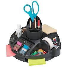 Post It Desk Organizer Post It Rotary Desktop Organizer Black By Office Depot Officemax