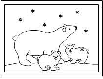 winter polar bear coloring pages