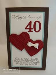 Anniversary Cards And Stationery Ebay A5 Personalised Handmade Ruby 40th Wedding Anniversary Card 40th