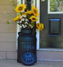 Old Milk Can Decorating Ideas Old Milk Can Perfect For A Farm Wedding Rusticwedding