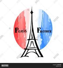 Paris Flag Image Travel France Label Paris Famous Vector U0026 Photo Bigstock