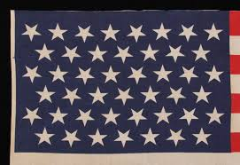 Dancing Flags Jeff Bridgman Antique Flags And Painted Furniture 45 Stars In