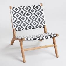 Accent Chairs Black And White Girona Outdoor Accent Chairs Set Of 2 World