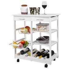 étagère à roulettes cuisine chariot de cuisine en bois tagre cabinet meuble rangement étagère à