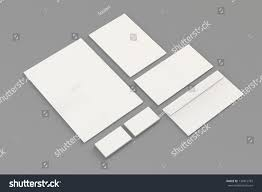 blank a4 paper business cards letterhead stock illustration